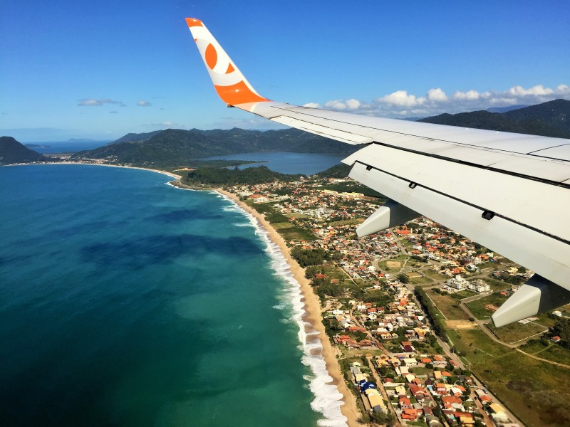 Coast or Brazil while landing